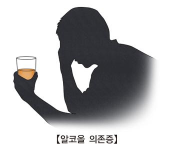 술을 들고 고민하는 남성