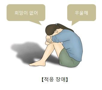 적응장애-희망도없고 우울하다며 무릎에 얼굴을 묻고있는 여성