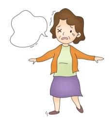 다발성 경화증 증세를 보이고 있는 여성
