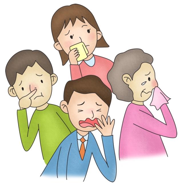 호흡기질환으로인해 괴로워하는 남녀노소