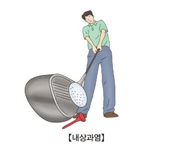 골프를치고있는 남성