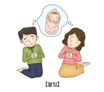 불임-부부가 아이를 가지고싶어 간절히 기도하고 있음