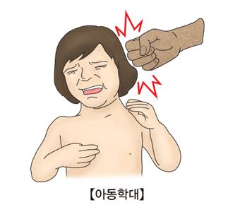 아동학대를 당하고 있는 남자아이