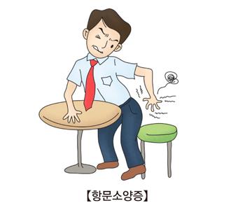 항문소양증으로 인해 의자에 앉기가 불편한 남성