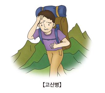 고산병으로 두통을 느끼고 있는 남성
