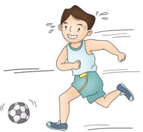 축구를 하구 있는 남자아이