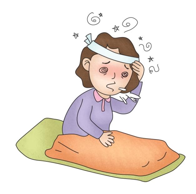 기상후 어지러움증을 느끼는 여성