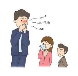 남성의 치은염으로 입냄새가 발생되 힘들어하는 남녀노소