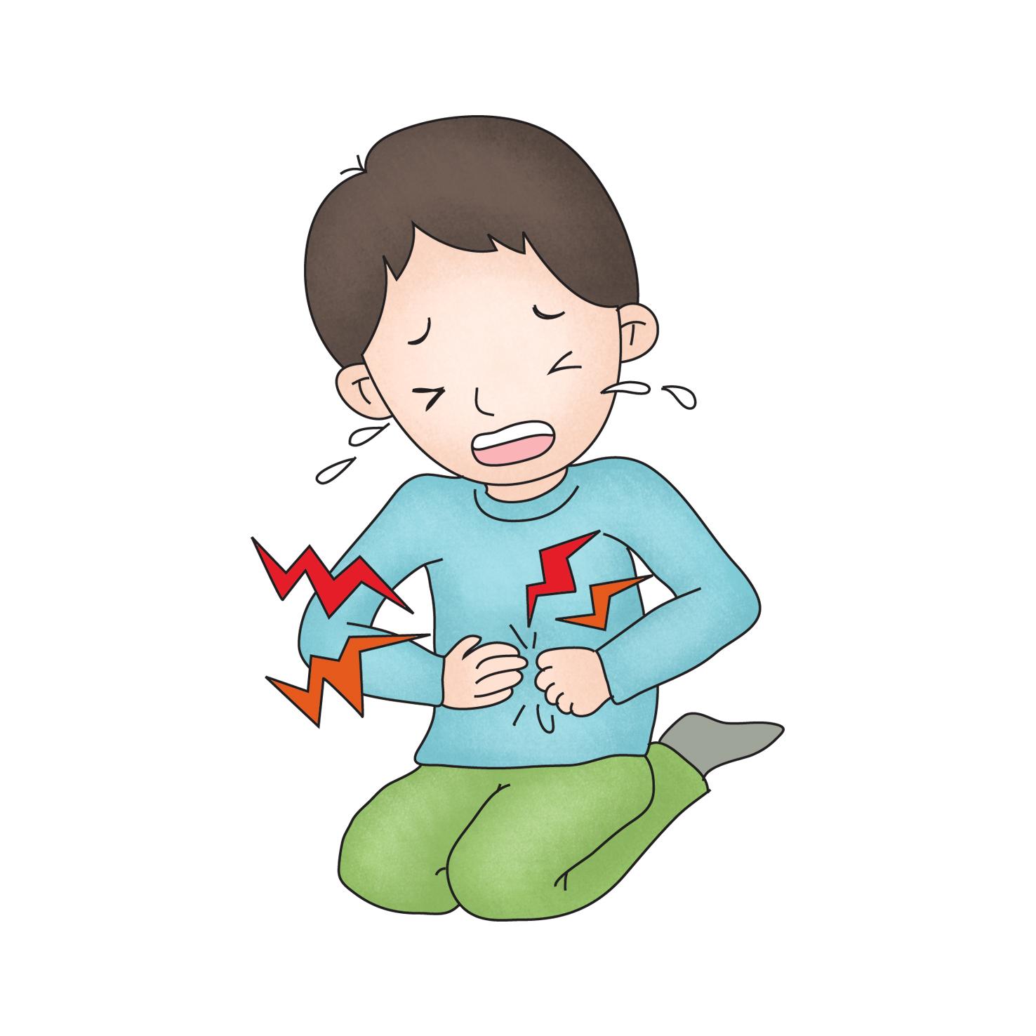 복부통증이심해울고있는아이