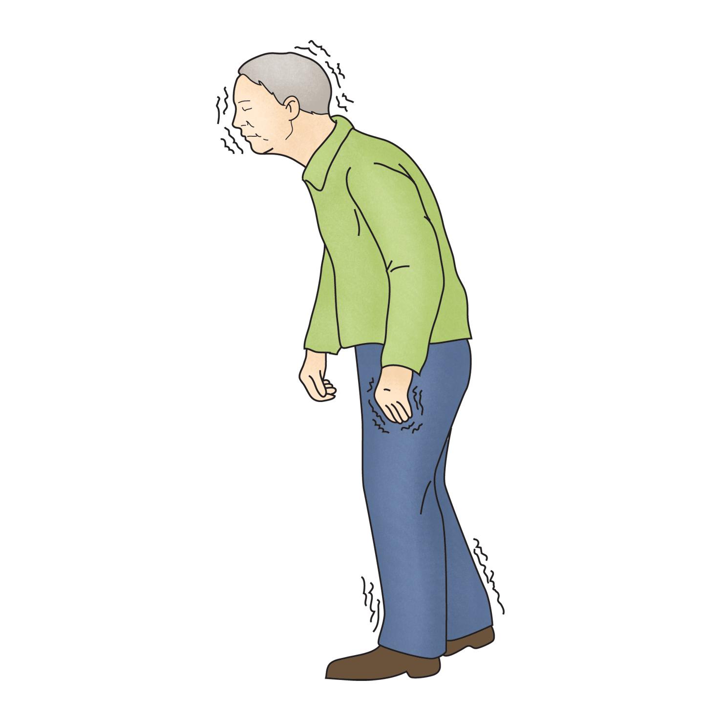 불안한자세로걷고있는노인